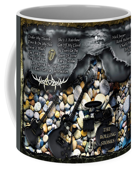 The Rolling Stones Coffee Mug featuring the digital art The London Years by Michael Damiani