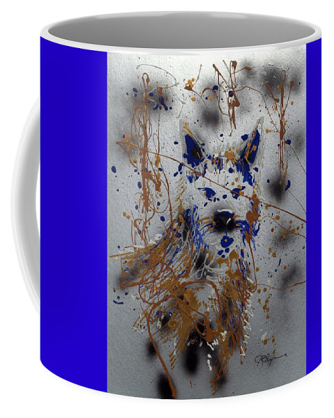 Impressionist Painting Coffee Mug featuring the mixed media The Lone Wolf Canis Lupus by J R Seymour