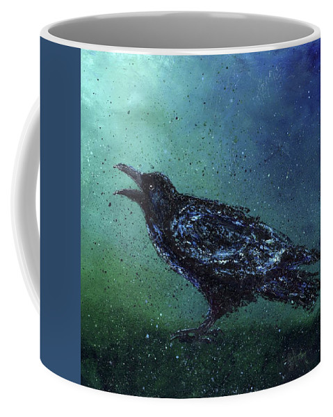 Long Coffee Mug featuring the painting The Long Night Ends by Cindy Johnston