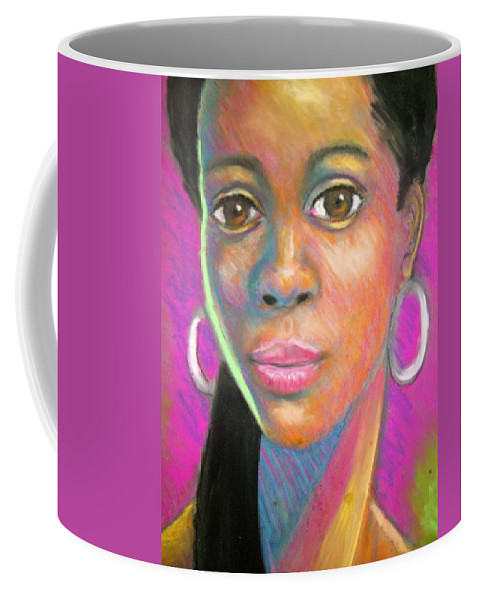Portrait Coffee Mug featuring the drawing The Look by Jan Gilmore