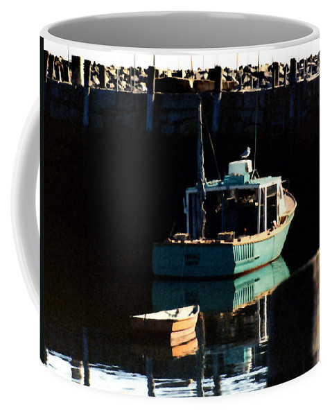 Boat Coffee Mug featuring the painting The Lookout by Paul Sachtleben