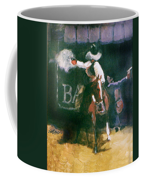 Cowboys Coffee Mug featuring the painting The Lord Helps Them...a Study by Seth Weaver