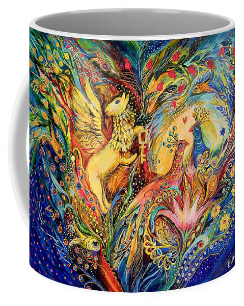 Original Coffee Mug featuring the painting The Lord Of The Sea by Elena Kotliarker
