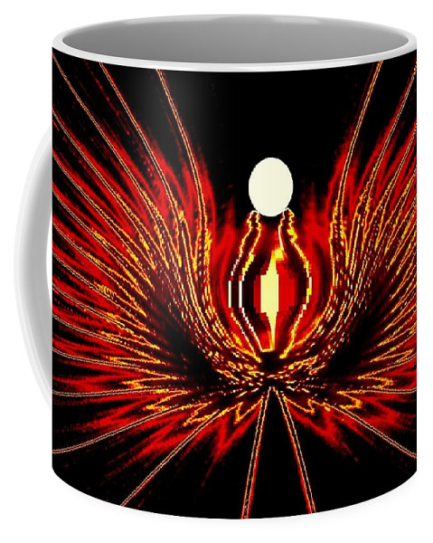 Abstract Coffee Mug featuring the digital art The Lost Pearl by Will Borden