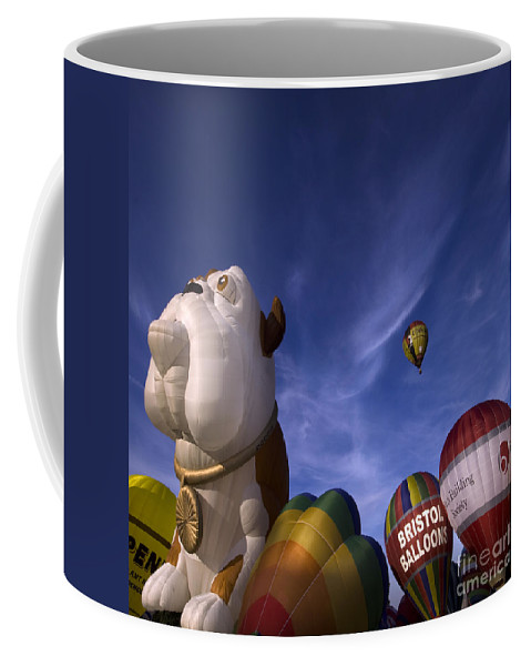 Balloon Fiesta Coffee Mug featuring the photograph The Lounge by Angel Ciesniarska