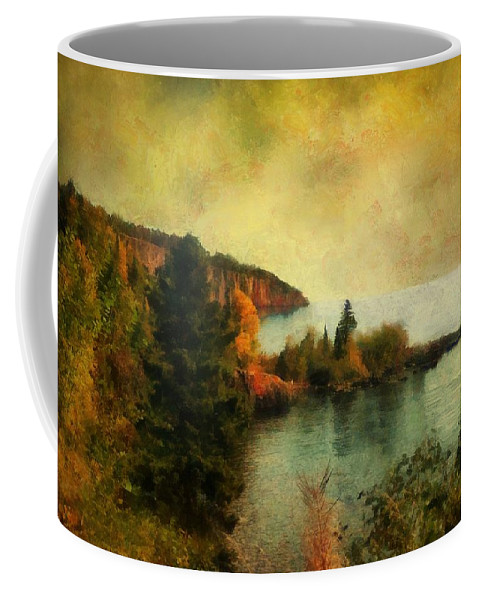Landscape Coffee Mug featuring the painting The Magic Hour by RC DeWinter