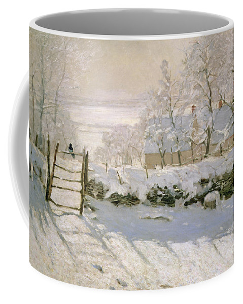 The Coffee Mug featuring the painting The Magpie by Claude Monet