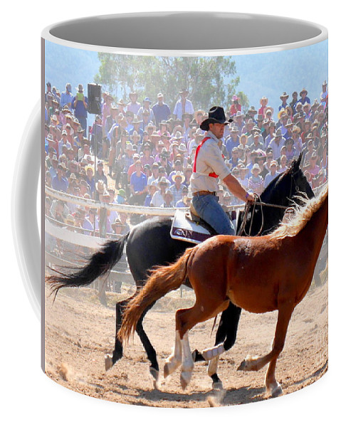 The Man From Snowy River Coffee Mug featuring the photograph The Man From Snowy River by Lexa Harpell