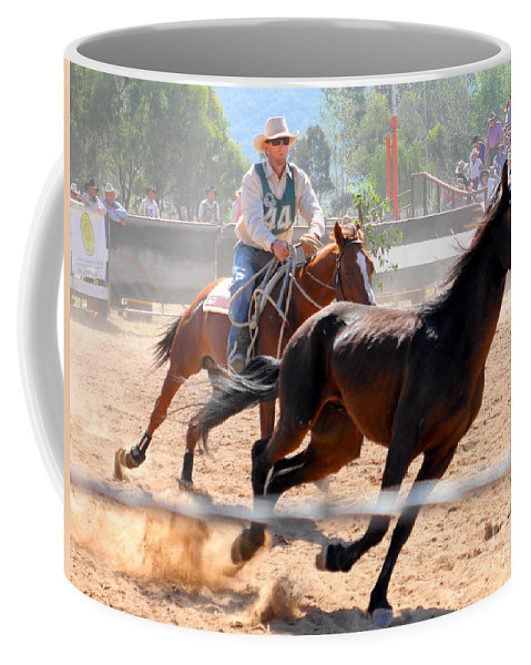 The Man From Snowy River Coffee Mug featuring the photograph The Man From Snowy River Winner by Lexa Harpell