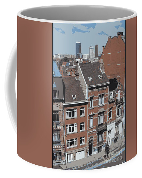 Brussels Coffee Mug featuring the photograph The Many Layers Of Brussels by Carol Groenen