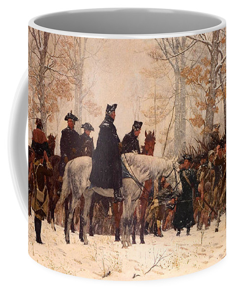 Painting Coffee Mug featuring the painting The March To Valley Forge by Mountain Dreams