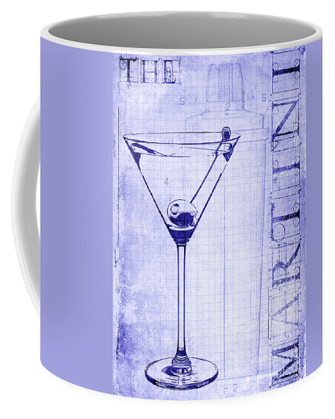 The martini blueprint coffee mug for sale by jon neidert front right view malvernweather Images