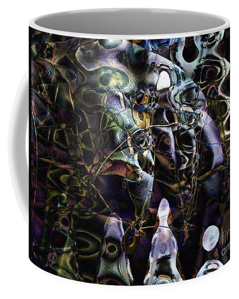 Mask Coffee Mug featuring the digital art The Mask by Ron Bissett