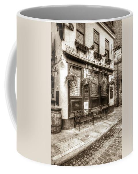 The Mayflower Pub Coffee Mug featuring the photograph The Mayflower Pub London Vintage by David Pyatt