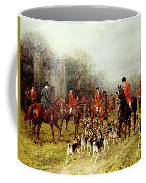 The Meet Coffee Mug featuring the painting The Meet by Heywood Hardy