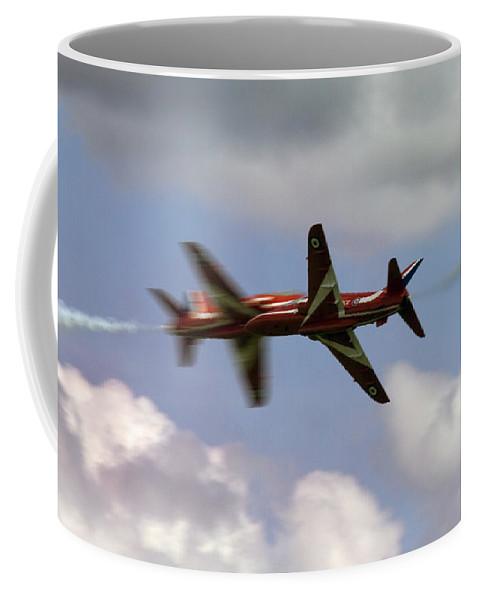 Red Arrows Coffee Mug featuring the photograph The Meeting by Angel Ciesniarska