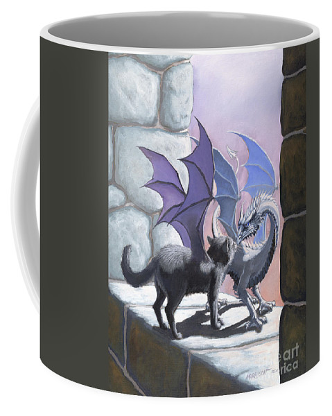 Fantasy Coffee Mug featuring the painting The Meeting by Stanley Morrison