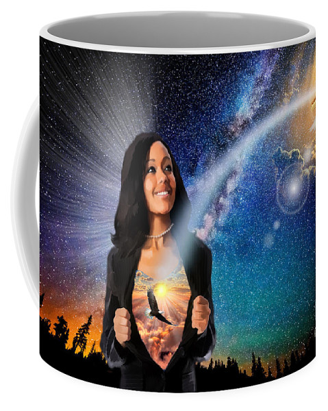 Salvation Coffee Mug featuring the digital art The Message Of Salvation by Dolores Develde