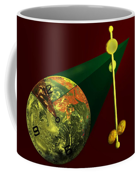 Earth Coffee Mug featuring the digital art The Metronome by Helmut Rottler