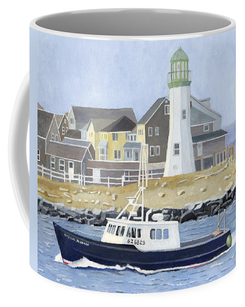Fishingboat Coffee Mug featuring the painting The Michael Brandon by Dominic White