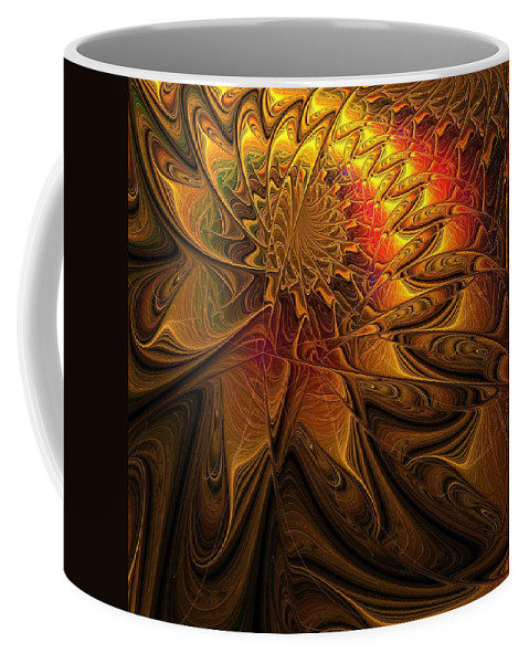 Digital Art Coffee Mug featuring the digital art The Midas Touch by Amanda Moore