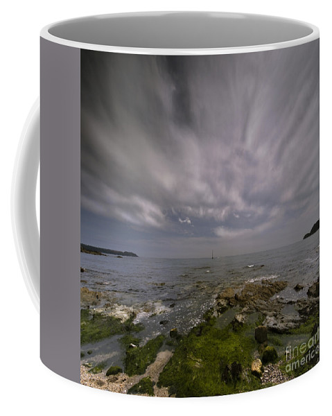 Yacht Coffee Mug featuring the photograph The Middle Of The Universe by Angel Ciesniarska