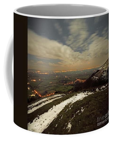 Midnight Coffee Mug featuring the photograph The Midnight On Malvern Hills by Angel Ciesniarska