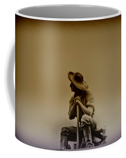 Philadelphia Coffee Mug featuring the photograph The Miner by Bill Cannon