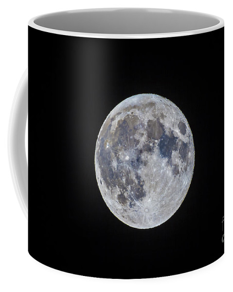 Full Moon Coffee Mug featuring the photograph The Mini-moon Of March 5, 2015 by Alan Dyer