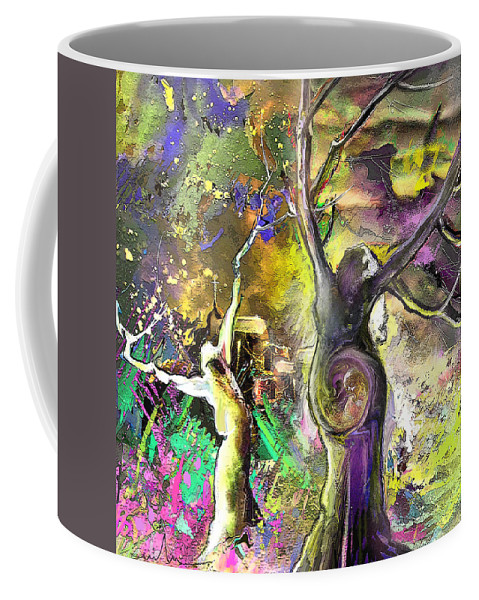 Bible Painting Coffee Mug featuring the painting The Miraculous Conception by Miki De Goodaboom