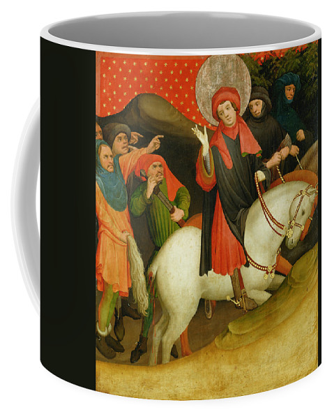The Coffee Mug featuring the painting The Mocking Of Saint Thomas by Master Francke