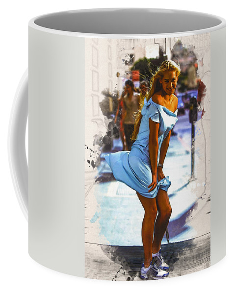 Home Art Coffee Mug featuring the digital art The Monroe Pose by Don Kuing