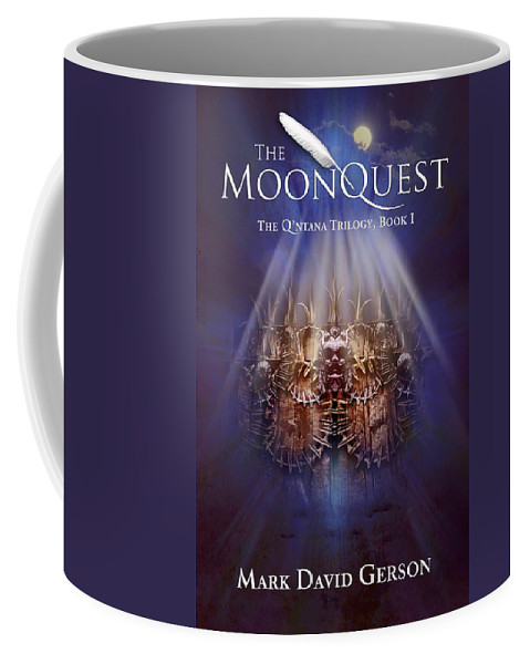 Book Cover Coffee Mug featuring the digital art The Moonquest Book Cover by Mark David Gerson