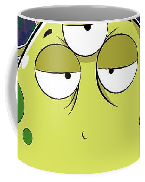 Most Coffee Mug featuring the digital art The Most Ugly Alien Ever by Catifornia Shop
