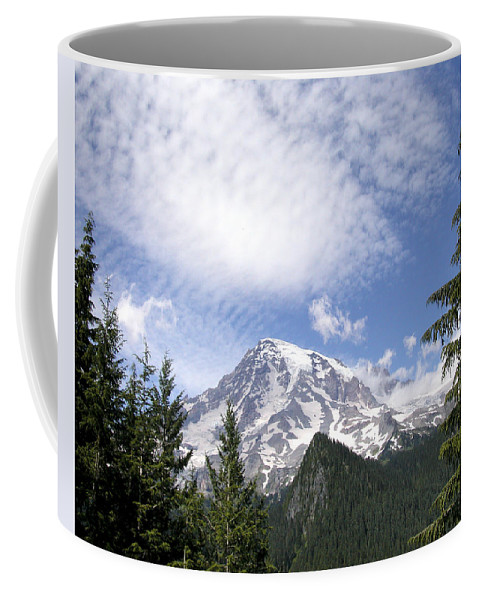 Mountain Coffee Mug featuring the photograph The Mountain Mt Rainier Washington by Michael Bessler