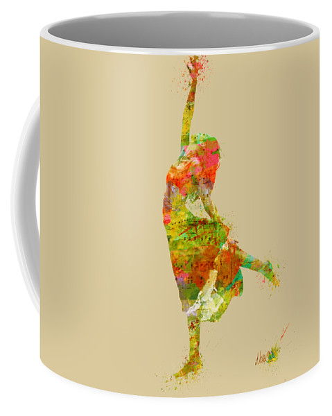 Dancer Coffee Mug featuring the digital art The Music Rushing Through Me by Nikki Smith
