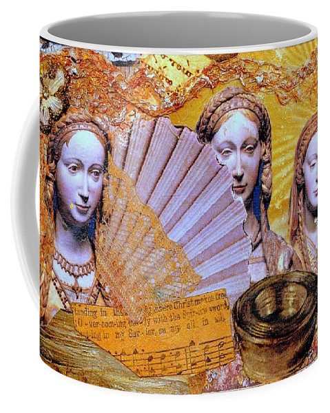Christian Coffee Mug featuring the mixed media The Mystery by Gail Kirtz