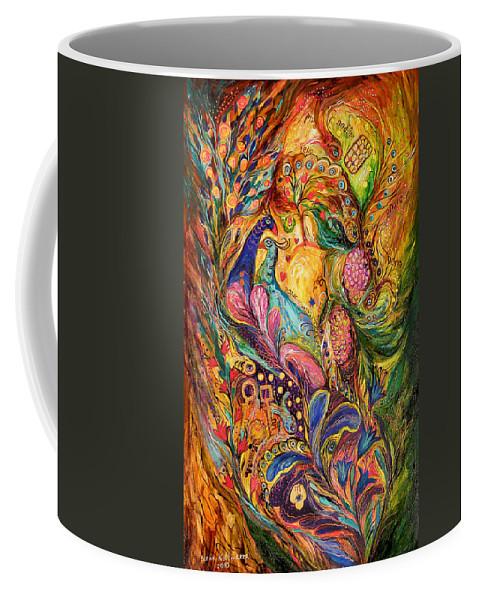 Original Coffee Mug featuring the painting The Mystery Of Three Keys by Elena Kotliarker