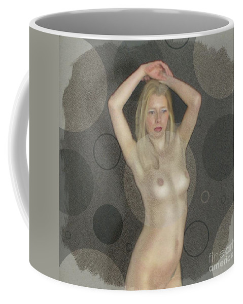 Burlesque Coffee Mug featuring the digital art The Naked Dance By Mb by Mary Bassett