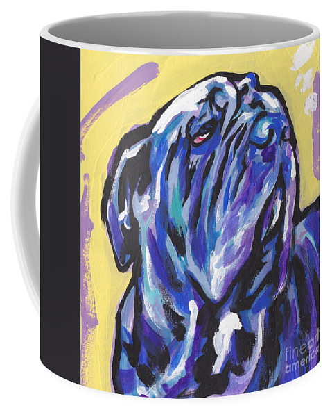 Neapolitan Mastiff Coffee Mug featuring the painting The Neo Pet by Lea S