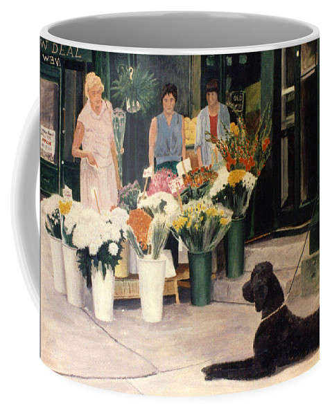 Mums Coffee Mug featuring the painting The New Deal by Steve Karol