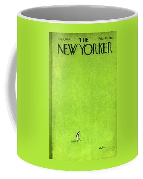 Leisure Coffee Mug featuring the painting The New Yorker Cover - August 6th, 1966 by Abe Birnbaum