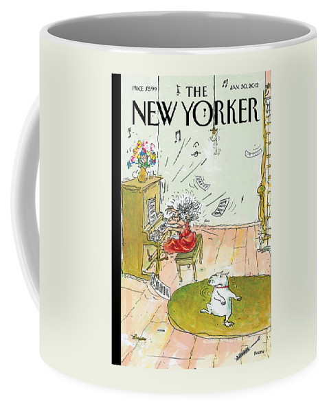 Woman Coffee Mug featuring the painting Winter Blues by George Booth