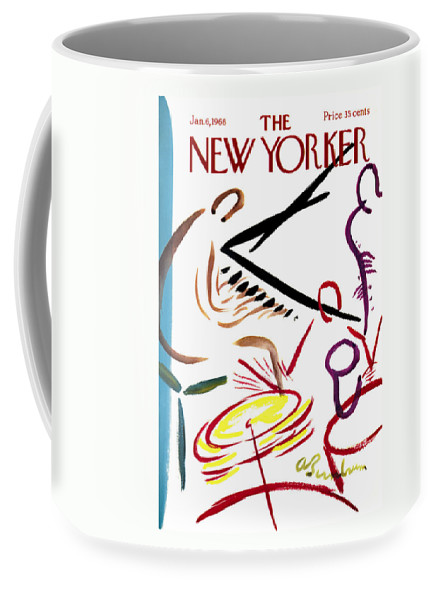 Music Coffee Mug featuring the photograph The New Yorker Cover - January 6th, 1968 by Conde Nast