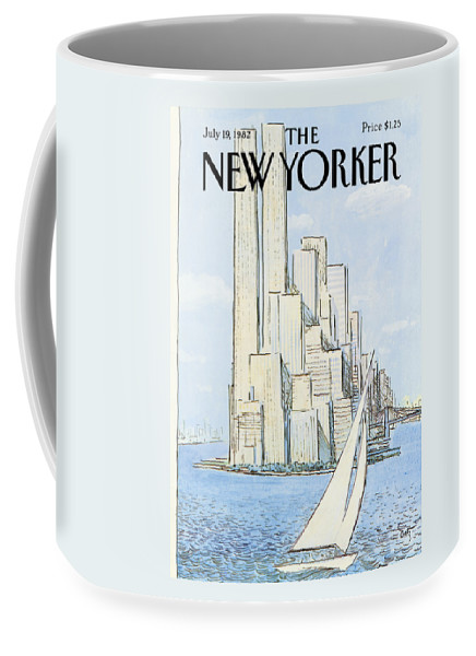 Regional Coffee Mug featuring the painting New Yorker July 19th, 1982 by Arthur Getz