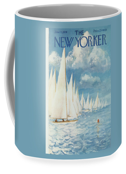 Arthur Coffee Mug featuring the painting New Yorker Cover - June 13th, 1959 by Arthur Getz