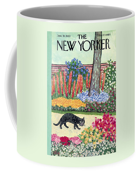 Animals Coffee Mug featuring the painting New Yorker Cover - June 18, 1960 by William Steig