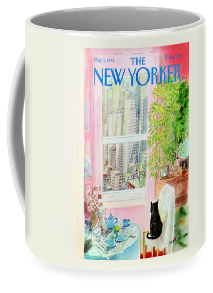 Apartment Coffee Mug featuring the painting New Yorker March 1, 1982 by Jean-Jacques Sempe