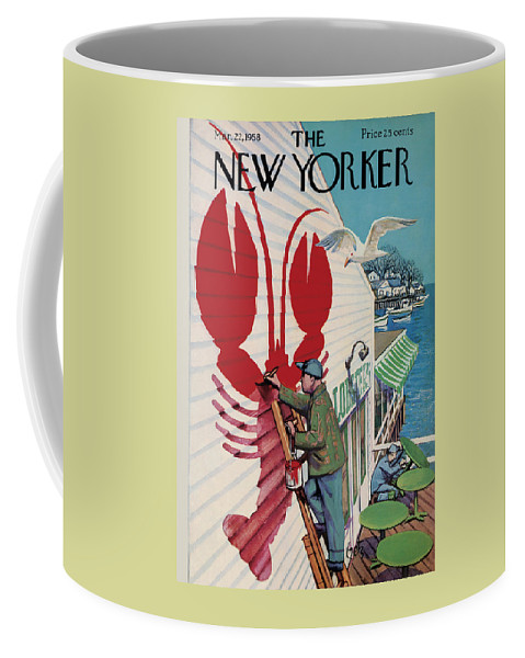 Food Coffee Mug featuring the photograph The New Yorker Cover - March 22nd, 1958 by Arthur Getz