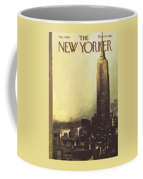 Arthur Coffee Mug featuring the painting The New Yorker Cover - March 3rd, 1962 by Arthur Getz